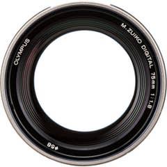 Olympus M.Zuiko Digital ED 75mm f/1.8 Lens - (Silver) - V311040SG000