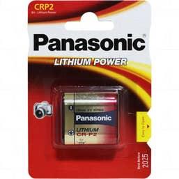 Panasonic CR-P2 6V 1400mAh Photographic Lithium Battery