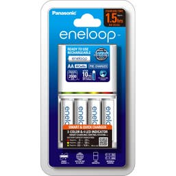 Panasonic Eneloop Smart and Quick Charger - BQ-CC55 with 4x 2000 mAh batteries