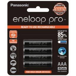 Panasonic eneloop Pro 4 x 950 mAh batteries AAA size