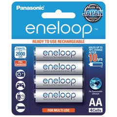 Panasonic Eneloop 2000 mAh batteries size AA  x 4