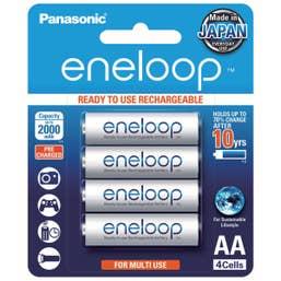 Panasonic eneloop  4 x 2000 mAh batteries AA size