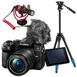 Panasonic Lumix G95 Vlogging Kit with Benro Video Tripod and Rode VideoMicro