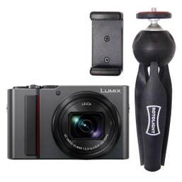 Panasonic Lumix TZ220 Vlogging Kit with Rotolight Mini Tripod - Silver