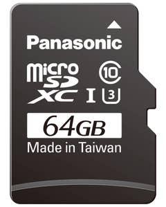 Panasonic Micro SDHC UHS-1 Card Plus Adapter: 64GB Class 10
