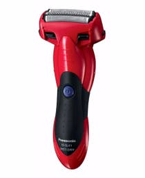 Panasonic Rechargeable Electric Cordless Wet/Dry Mens 3 Blade Shaver - Red