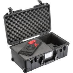 Pelican 1535 Air Case wheeled w. TrekPak-Foam Hybrid System Black