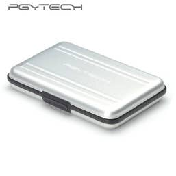 PGY TECH Memory Card Holder Silver