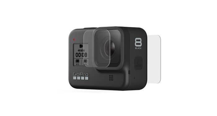 Tempered Glass Lens plus Screen Protectors (HERO8 Black)