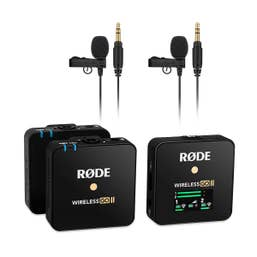 Rode Wireless GO II Wireless Interview Kit with 2 Lavalier GO Mics