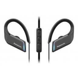 Panasonic Wings Ultra-Light Wireless Illuminated Bluetooth Sport Earphones, Black