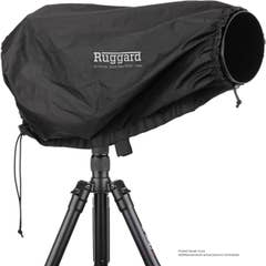 """Ruggard Fabric Rain Cover 23"""" Large for Lens up to 23"""" Long Black"""