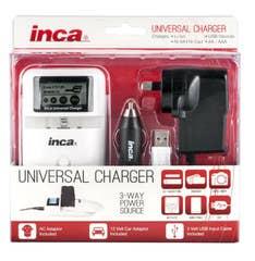 INCA Charger Universal Li-Ion Battery USB Devices and Li-Pol Ni-Mh LED Status RM-42