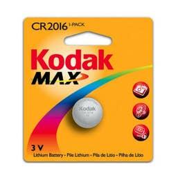 Kodak Max Lithium Battery KCR2016-1PK