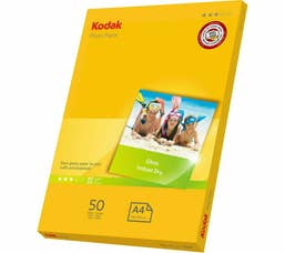 Kodak 180GSM 50 Sheets Gloss Instant Dry 180gsm A4 Photo Paper