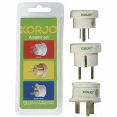 Korjo Adapter Set - Europe, Great Britain, USA