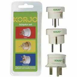 Korjo Adapter Set - Europe, Great Britain, USA