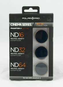 PolarPro DJI Phantom 4 Filters - Cinema Series - Shutter Collection (ND16, ND32 & ND64)
