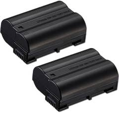 Jupio Nikon EN-EL15 Twin Battery  plus Charger Kit