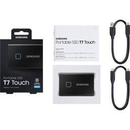 Samsung T7 Touch 500GB USB 3.2 Portable SSD - Black`