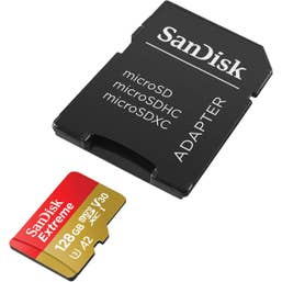 SANDISK EXTREME microSD 128GB UHS-1 A2 V30 Card 160MB/s
