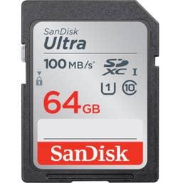SanDisk Ultra SDHC SDUNR 64GB C10 UHS-I 100MB/s R
