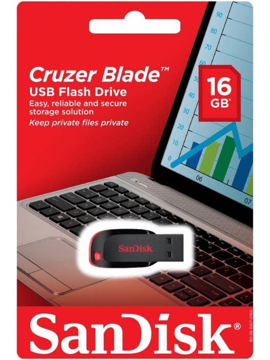 SanDisk Cruzer® BLADE USB 2.0 Flash Drive 16GB