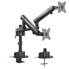"""Brateck Dual Monitor Aluminium Pole-Mounted Spring-Assisted Arm With USB 17""""-32"""""""