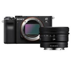 Sony A7C Body - Black with Sony FE 24mm f/2.8 G Lens