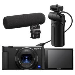 Sony ZV-1 Digital Camera Vlogging Kit with VCT-SGR1 and ECM-GZ1M Zoom Mic