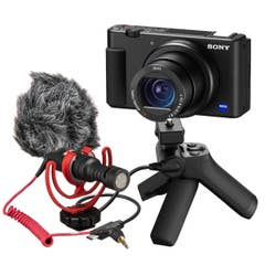 Sony ZV-1 Digital Camera Vlogging Kit with VCT-SGR1 and Rode VideoMicro