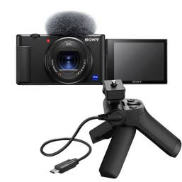 Sony ZV-1 Digital Camera with Sony VCT-SGR1 Shooting Grip