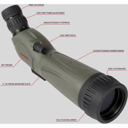 Tasco 20-60x60 Spotting Scope 45° Angled Viewing