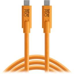 Tetherpro USB-C to USB-C 180cm - Hi-Vis Orange