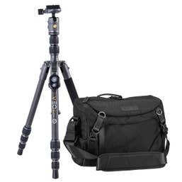 Vanguard VEO 3GO 204CB Carbon Tripod Kit with Bluetooth & 34M Camera Shoulder Bag