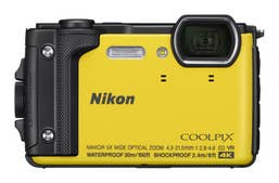 Nikon Coolpix W300 - Yellow with Black Silicon Jacket