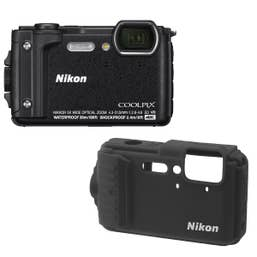 Nikon Coolpix W300 - Black with Black Silicon Jacket