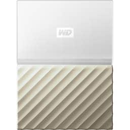 Western Digital My Passport External Hard Drive White/Gold USB 3.0