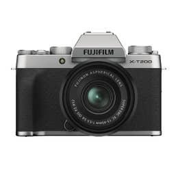 FUJIFILM X-T200 Mirrorless Digital Camera with XC 15-45mm Lens (Silver)
