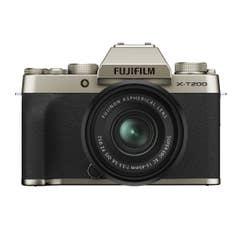FUJIFILM X-T200 Mirrorless Digital Camera with XC 15-45mm Lens (Champagne Gold)