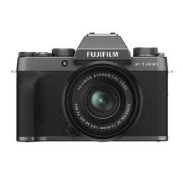 FUJIFILM X-T200 Mirrorless Digital Camera with XC 15-45mm Lens (Dark Silver)