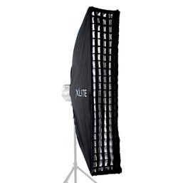 Xlite 25x100cm Pro Strip Softbox  plus Grid & Mask for Elinchrom