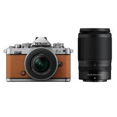 Nikon Z fc Amber Brown with Nikkor Z 16-50mm VR and Z 50-250mm VR Lens