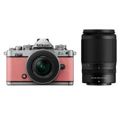 Nikon Z fc Coral Pink with Nikkor Z 16-50mm VR and Z 50-250mm VR Lens