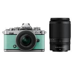 Nikon Z fc Mint Green with Nikkor Z 16-50mm VR and Z 50-250mm VR Lens