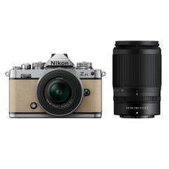 Nikon Z fc Sand Beige with Nikkor Z 16-50mm VR and Z 50-250mm VR Lens