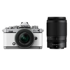 Nikon Z fc White with Nikkor Z 16-50mm VR and Z 50-250mm VR Lens