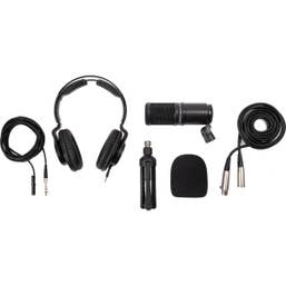 Zoom ZDM-1 Podcast Mic Pack with Headphones, Windscreen, XLR, and Tabletop Stand