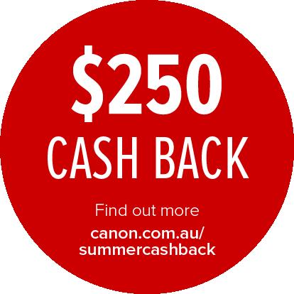 Canon $250 Cashback