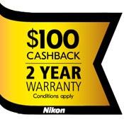 Nikon $100 Cashback